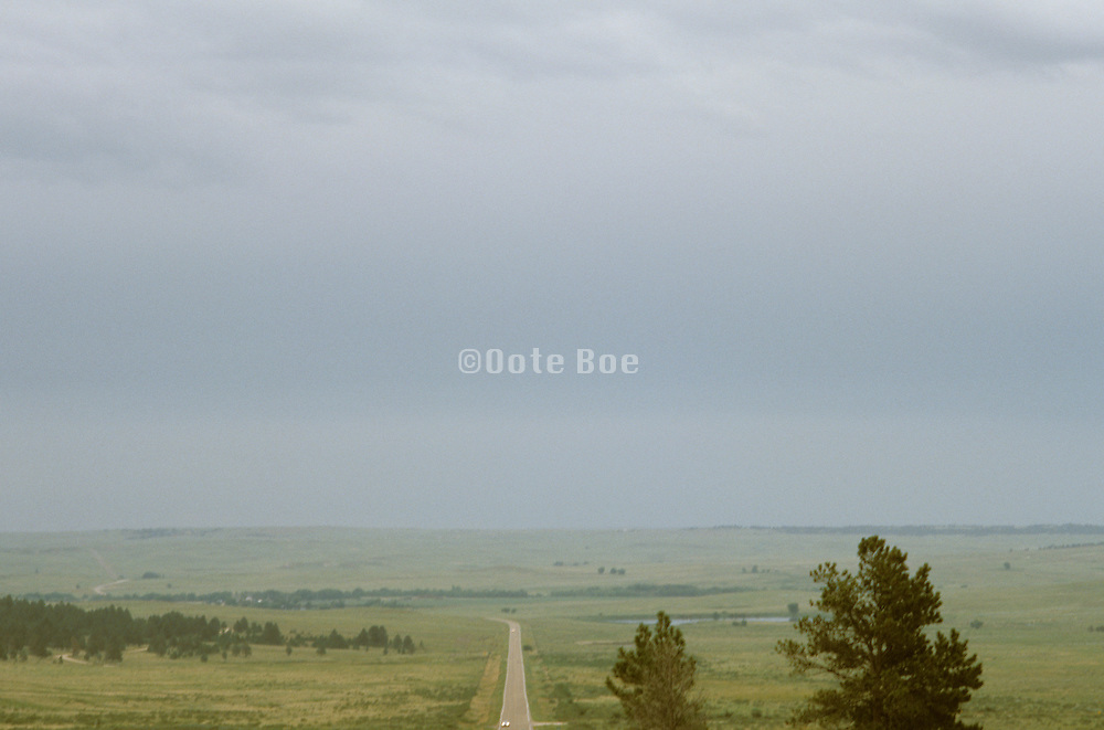 Foggy Colorado landscape US