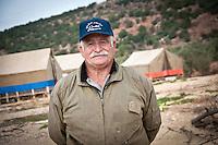 Rateb Rabadi, farmer and owner of a 100 dunams of olive trees in Ajloun, Jordan. 2012.