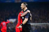 Marco VERRATTI / Bjorn KUIPERS - 11.03.2015 - Chelsea / Paris Saint Germain - 1/8Finale retour Champions League<br /> Photo : Dave Winter / Icon Sport
