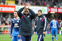Joie LYON - Clinton NJIE - 04.04.2015 - Guingamp / Lyon - 31eme journee de Ligue 1<br />