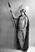 Florence Austral (1894-1968) Australian soprano specialising in Wagnerian roles; real name Wilson. Austral as Brunnhilde in Wagner 'Die Walkure', part in which she made her Covent Garden debut in 1922