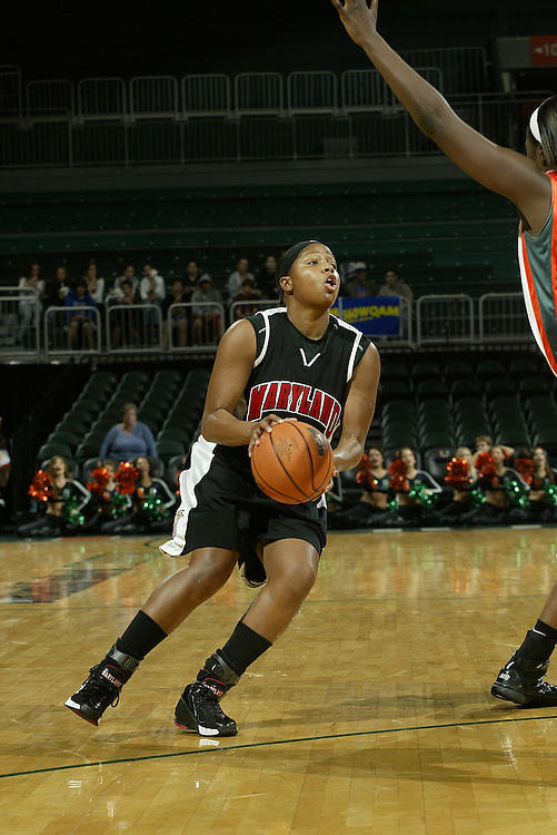 University of Maryland guard Ashleigh Newman in action during the Terrapins 111-53 victory over the Miami Hurricanes on January 10, 2007 at the BankUnited Center in Coral Gables, Florida.