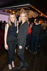 Left to right, LAURA CARMICHAEL and SAVANNAH MILLER at a party to celebrate the Astley Clarke & Theirworld Charitable Partnership held at Mondrian London, Upper Ground, London on 10th March 2015.