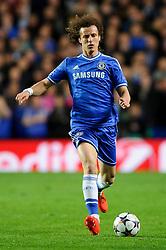Chelsea Defender David Luiz (BRA) in action - Photo mandatory by-line: Rogan Thomson/JMP - 07966 386802 - 08/04/2014 - SPORT - FOOTBALL - Stamford Bridge, London - Chelsea v Paris Saint-Germain - UEFA Champions League Quarter-Final Second Leg.