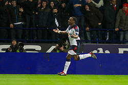 BOLTON, ENGLAND - Saturday, January 21, 2011: Bolton Wanderers' Nigel Reo-Coker celebrates scoring the second goal against Liverpool during the Premiership match at the Reebok Stadium. (Pic by David Rawcliffe/Propaganda)