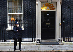 © Licensed to London News Pictures. 25/10/2012. Westminster, UK A police officer on the doorstep of number 10 Downing Street today 25 October 2012. Photo credit : Stephen Simpson/LNP