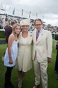 LADY ELOISE GORDON-LENNOX; THE COUNTESS OF MARCH; THE EARL OF MARCH, Ladies Day, Glorious Goodwood. Goodwood. August 2, 2012