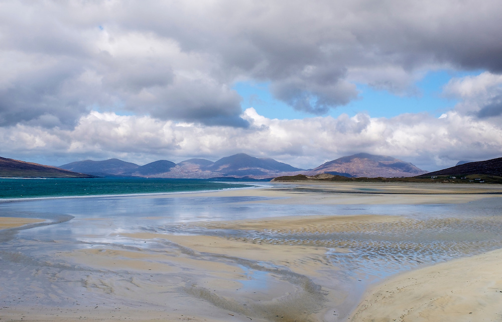 LEWIS AND HARRIS, SCOTLAND - CIRCA APRIL 2016: Beach on the outer islands of Lewis and Harris in Scotland.