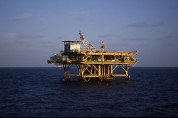 Stock photo of an offshore petroleum  production platform