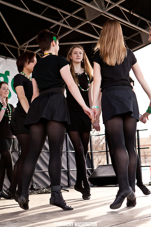 The Maple School of Irish Dance performs during Shamrock Fest on the grounds of RFK Stadium in Washington, DC on Saturday, March 22, 2014.