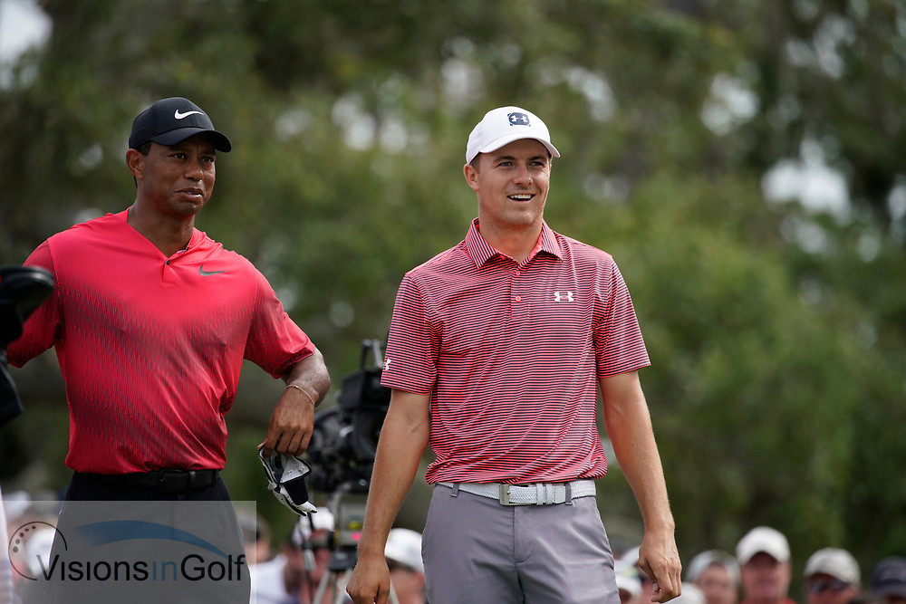 Tiger Woods Jordan Spieth<br /> On the final day<br /> THE PLAYERS Championship 2018