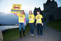 Pieta House, Centre for the Prevention of Self-harm or Suicide will be holding its eighth Darkness into Light charity 5k walk/run this year and for the second time KINVARA is hosting the event.&nbsp; We will be hosting Darkness Into Light on 7th May 2016 while it is still dark at 4.15  and finishing as dawn is breaking at 5.30am approximately.<br /> <br /> The 5 kilometre circuit will commence at the Astro pitch at Kinvara National School. Runners and walkers veer left coming out of Kinvara National School and proceed down the main street. From there the runners and walkers will continue along the N67 in the direction of Dunguaire Castle. Runners and walkers will then turn onto R367(Ardrahan Road) on their right and from there proceed approx. 1 KM and turn left onto Green Road.They will then proceed to rejoin theN67 at the Green Road junction on the northeast of Dunguaire Castle. The participants will proceed back towards Kinvara village along the N67 until returning to the original starting point at the Astro pitch at Kinvara National School.<br /> At the Launch were   Jennifer Mongan ,  Claire Shiels and Sam Heanen.  Photo:Andrew Downes, xposure.