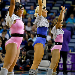 February 2, 2012; New Orleans, LA, USA; New Orleans Hornets honeybees dancer perform during a game against the Phoenix Suns at the New Orleans Arena. The Suns defeated the Hornets 120-103.  Mandatory Credit: Derick E. Hingle-US PRESSWIRE