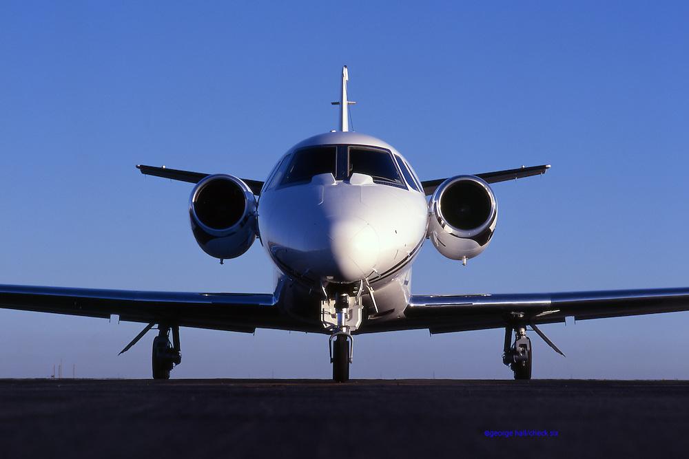 Citation, aircraft, cessna, tarmac, jet aircraft, jet plane, head-on