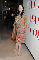 ANDREA RISEBOROUGH at a private view of 'Valentino: Master Of Couture' at Somerset House, London on 28th November 2012.