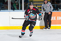 KELOWNA, CANADA - SEPTEMBER 28:   Cole Linaker #26 of the Kelowna Rockets skates on the ice against the Victoria Royals at the Kelowna Rockets on September 28, 2013 at Prospera Place in Kelowna, British Columbia, Canada (Photo by Marissa Baecker/Shoot the Breeze) *** Local Caption ***