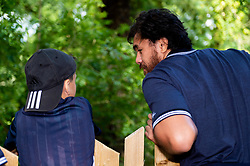 Players mingle with fans at the new Bear Wood at the Wild Place Project - Ryan Hiscott/JMP - 06/08/2019 - SPORT - Wild Place Project - Bristol, England - Bristol Bears at the new Bears Wood at the Wild Place Project