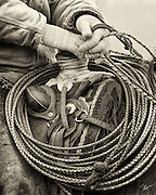 Buckaroos use a reata or rope made of braided rawhide which is sixty feet long.