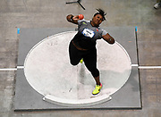 Mar 5, 2017; Albuquerque, NM, USA; Michelle Carter wins the women's shot put at 62-5 1/4 (19.03m) during the USA Indoor Championships at the Albuquerque Convention Center.