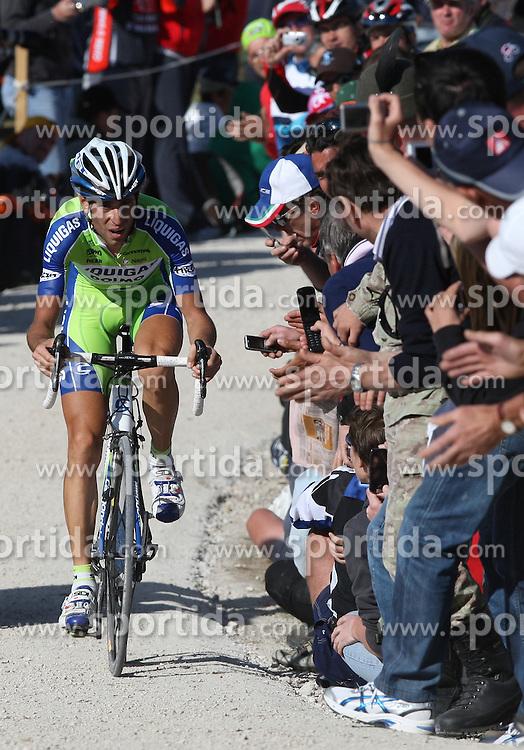 25/05/2010 Etape 16 - 93° GIRO D'ITALIA - Tour d'Italie - Contre la montre individuelle 12,9 km. San Vigilio Di Marebbe - Plan De Corones, Italy. .© Photo Pierre Teyssot / Sportida.com.NIBALI Vincenzo (ITA) LIQ during the time trial, 16th stage on 25/05/2010, 2010 in Plan de Corones, Kron Platz, Italy.
