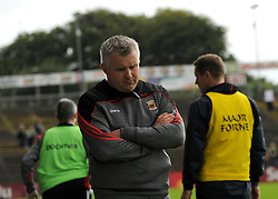 Mayo manager Stephen Rochford walks the sideline.<br /> Pic Conor McKeown