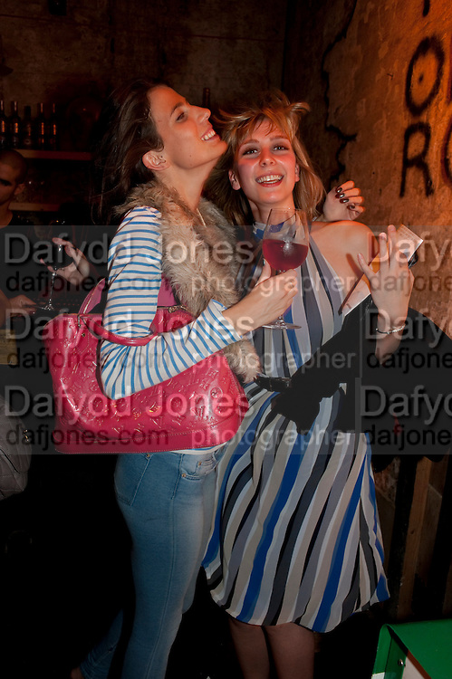REBECCA RIDGE; EMMA TOBIN, STEVE LAZARIDES LAUNCHES ÔMINOTAURÕ Ð A LABYRINTHINE EXHIBITION TAKING OVER THE OLD VIC TUNNELS OVER FRIEZE WEEK FROM 11-25 OCTOBER. Waterloo. London. 10 October 2011. <br /> <br />  , -DO NOT ARCHIVE-© Copyright Photograph by Dafydd Jones. 248 Clapham Rd. London SW9 0PZ. Tel 0207 820 0771. www.dafjones.com.<br /> REBECCA RIDGE; EMMA TOBIN, STEVE LAZARIDES LAUNCHES 'MINOTAUR' – A LABYRINTHINE EXHIBITION TAKING OVER THE OLD VIC TUNNELS OVER FRIEZE WEEK FROM 11-25 OCTOBER. Waterloo. London. 10 October 2011. <br /> <br />  , -DO NOT ARCHIVE-© Copyright Photograph by Dafydd Jones. 248 Clapham Rd. London SW9 0PZ. Tel 0207 820 0771. www.dafjones.com.