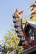 Neon sign for Barbque at Main Street Disney World in Lake Buena Vista, Florida.