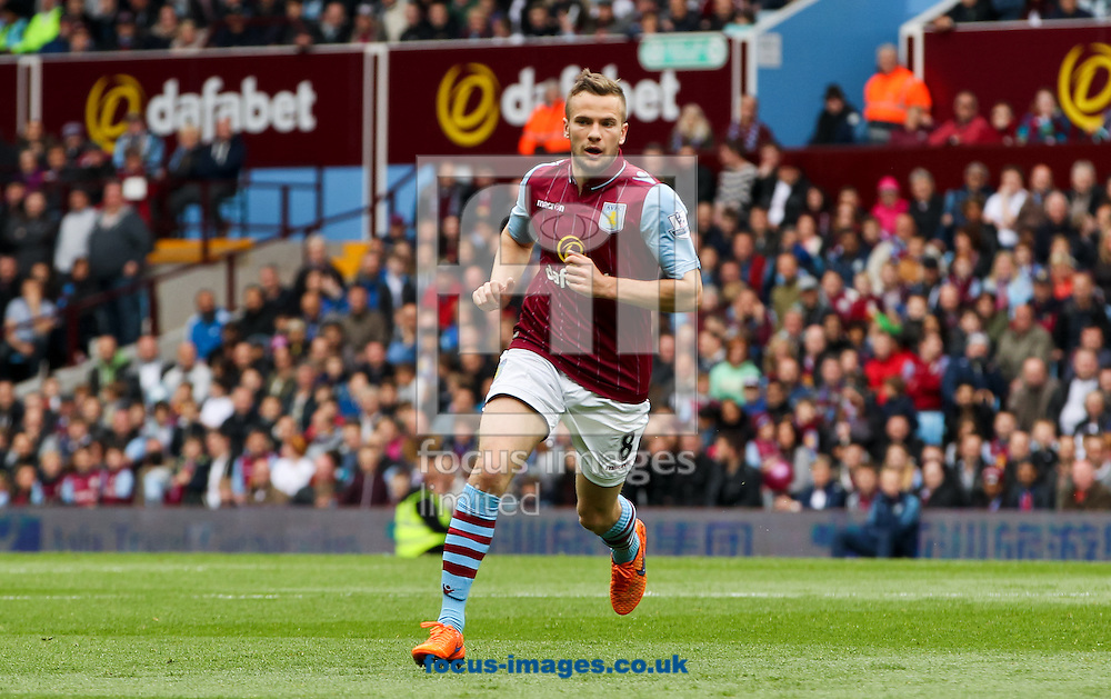 Tom Cleverley of Aston Villa during the Barclays Premier League match at Villa Park, Birmingham<br /> Picture by Tom Smith/Focus Images Ltd 07545141164<br /> 09/05/2015