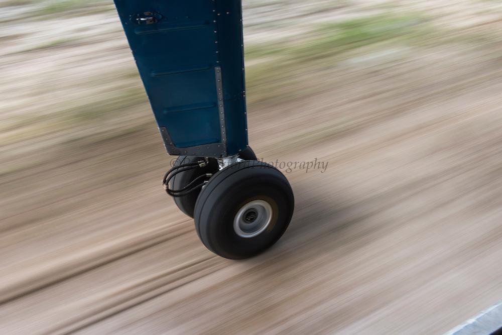 Landing on dirt strip<br /> Phillipai<br /> GUYANA<br /> South America