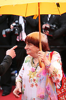 Agnès Varda, Jury Camera D'or President,.at the gala screening of Jeune & Jolie at the 2013 Cannes Film Festival 16th May 2013