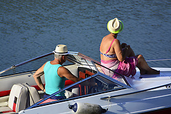 August 3, 2017 - Osijek, Croatia - Daily life in the city on the river Drava on 03 Aug 2017. Osijek,Croatia  (Credit Image: © Alen Gurovic/NurPhoto via ZUMA Press)