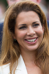 Princess Haya bint Al Hussein is the daughter of King Hussein of Jordan and his third wife, Queen Alia. Princess Haya is the junior wife of Sheikh Mohammed bin Rashid Al Maktoum on the second day of Glorious Goodwood<br /> London, United Kingdom,<br /> Wednesday, 31st July 2013<br /> Picture by i-Images