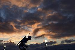 "March 9, 2019 - ƒâ€""Stersund, Sweden - 190309 An athlete in silhouette competes in the Men's 10 KM sprint during the IBU World Championships Biathlon on March 9, 2019 in Östersund..Photo: Petter Arvidson / BILDBYRÃ…N / kod PA / 92252 (Credit Image: © Petter Arvidson/Bildbyran via ZUMA Press)"