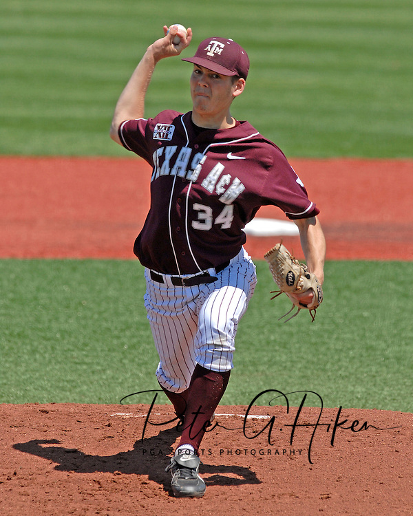 Texas A&M starting pitcher Scott Migl in action against Kansas State at Tointon Stadium in  Manhattan, Kansas, May 13, 2007.  K-State defeated the 11th ranked Aggies 11-6.