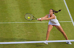 LONDON, ENGLAND - Wednesday, June 24, 2009: Laura Robson (GBR) during the Ladies' Doubles 1st Round match on day three of the Wimbledon Lawn Tennis Championships at the All England Lawn Tennis and Croquet Club. (Pic by David Rawcliffe/Propaganda)