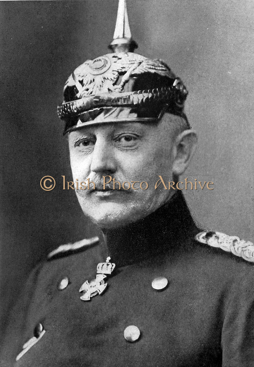 Count Hellmuth von Moltke, chief of the general staff of the German army at the outbreak of war.