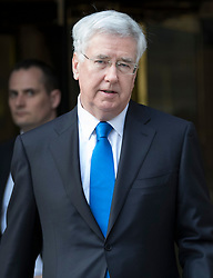 © Licensed to London News Pictures. 31/03/2017. London, UK. Defence Secretary Michael Fallon leaves TV studios near Parlaiment today. Photo credit: Peter Macdiarmid/LNP