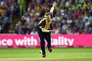 Sam Cook of Essex Eagles bowling during the Vitality T20 Finals Day 2019 match between Worcestershire County Cricket Club and Essex County Cricket Club at Edgbaston, Birmingham, United Kingdom on 21 September 2019.