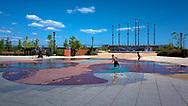 Fountain at Midland Beach Veterans Memorial near the Franklin D. Roosevelt boardwalk