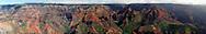 Panoramic view of Waimea Canyon, the Hawaiian Grand Canyon, on the island of Kauai, Hawaii