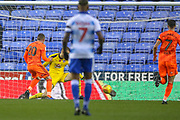 Ipswich Town forward Freddie Sears (20) scores a goal during the EFL Sky Bet Championship match between Reading and Ipswich Town at the Madejski Stadium, Reading, England on 10 November 2018.