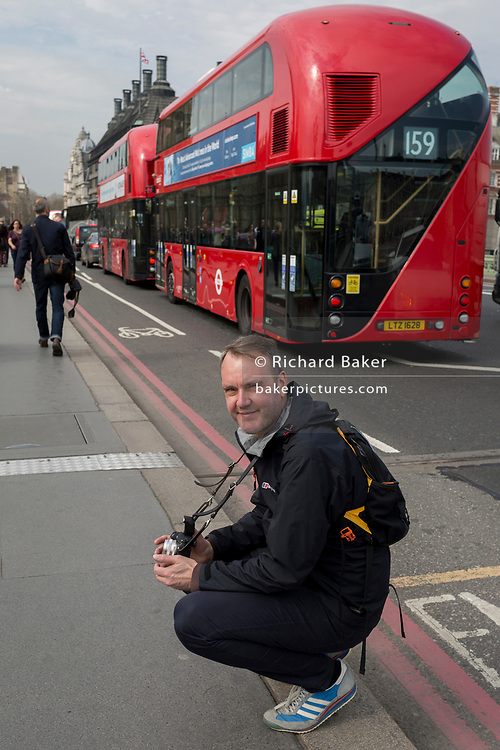Photographer Peter Dench, on 28th March, 2017, in London, England.