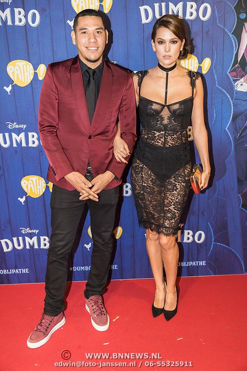 NLD/Amsterdams/20190326 - Filmpremiere Dumbo, Hedwiges Maduro en partner Elise ter Horst