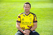 Nat West T20 Blask kit portrait of Roelof van der Merwe during the Somerset County Cricket Club PhotoCall 2017 at the Cooper Associates County Ground, Taunton, United Kingdom on 5 April 2017. Photo by Graham Hunt.