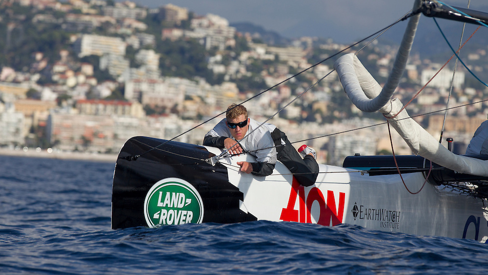 FRANCE, Nice. 2nd October 2013. Musto photo shoot on board Extreme 40 GAC Pindar.