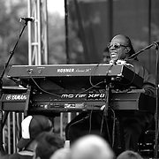 Music legend Stevie Wonder performs at one of three surprise pop-up concerts held in Washington, D.C., Philadelphia and New York.
