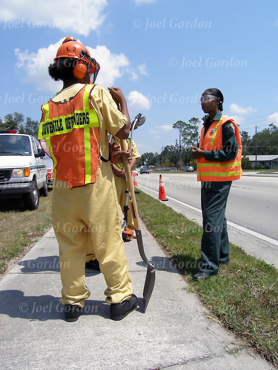 Developed in partnership with the court system's Pay Up Program, LEARN is basically a road crew program made up of juvenile offenders. Supervised by certified corrections officers, these juveniles work cleaning up the right-of-way along roads in Orange County in order to earn money which provides restitution to their victims