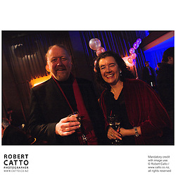 Vincent Burke;Penelope Borland at the Film Wellington 10th Anniversary Celebration at the Front Room, Wellington, New Zealand.<br />