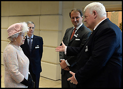 HM The Queen and the Duke of Edinburgh visit the Lloyd's of London building in the City of London, Thursday, 27th March 2014. Picture by Andrew Parsons / i-Images