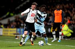 Richard Keogh of Derby County tackles Idrissa Sylla of Queens Park Rangers - Mandatory by-line: Robbie Stephenson/JMP - 31/03/2017 - FOOTBALL - iPro Stadium - Derby, England - Derby County v Queens Park Rangers - Sky Bet Championship